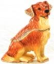 Kubla 3860 Golden Retriever Dog Jeweled Box