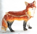 Kubla Crafts Bejeweled Enamel KUB 3865 Red Fox Box