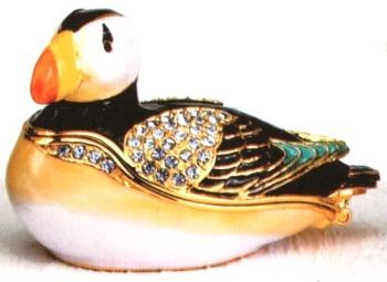 Kubla 3917 Puffin Jeweled Box