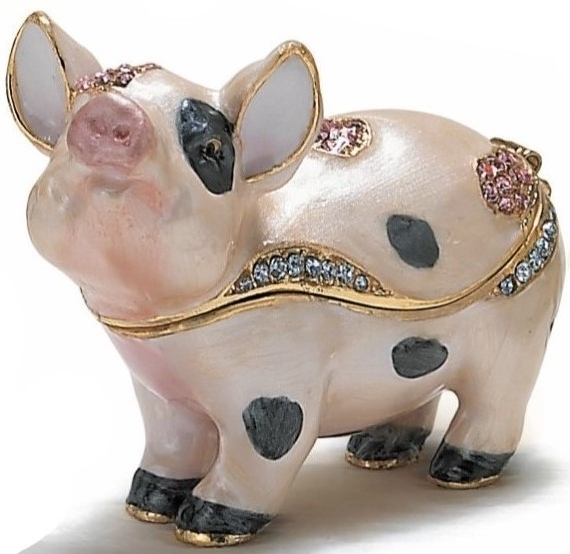 Special Sale KUB 3924 Kubla 3924 Pig Small Spotted Box