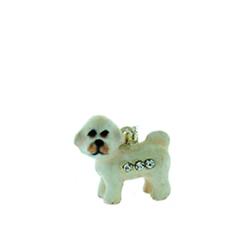 Kubla Crafts Bejeweled Enamel KUB 3933N Bichon Frise Dog Necklace