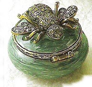 Kubla 3942 Bee Set of 2 Jeweled Box