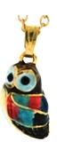 Kubla Crafts Bejeweled Enamel KUB 3958N Owl Necklace