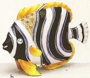 Kubla Crafts Bejeweled Enamel KUB 3965 Fish Box