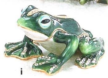 Kubla Crafts Bejeweled Enamel KUB 3975 Frog Box