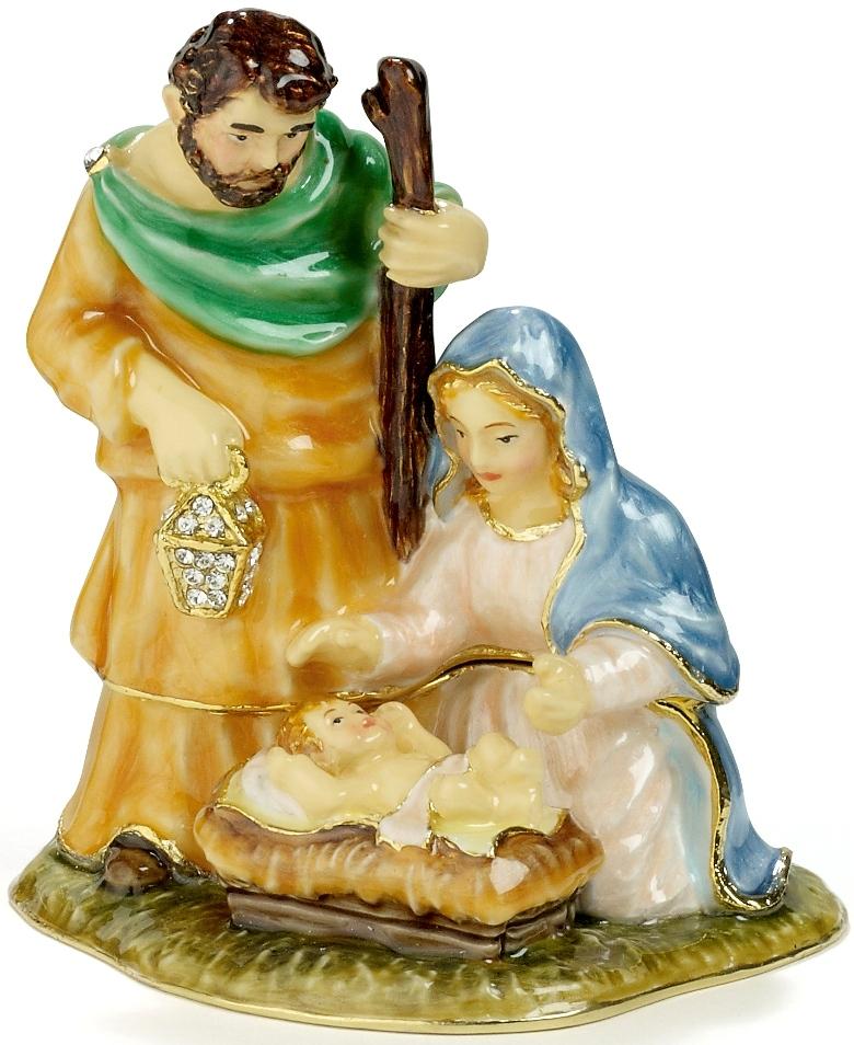 Kubla Crafts Bejeweled Enamel KUB 4-3209 Nativity Box