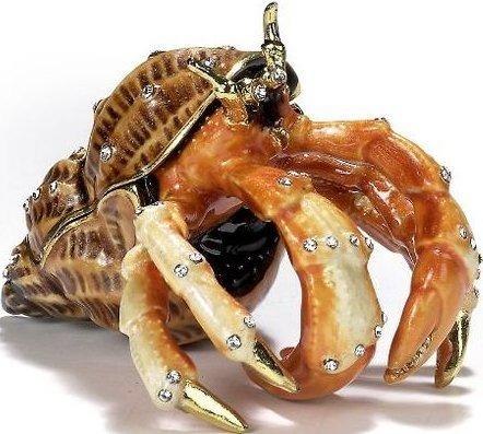 Kubla Crafts Bejeweled Enamel KUB 4-3394 Large Hermit Crab Box