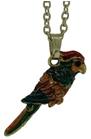 Kubla Crafts Bejeweled Enamel KUB 4025N Parrot Necklace