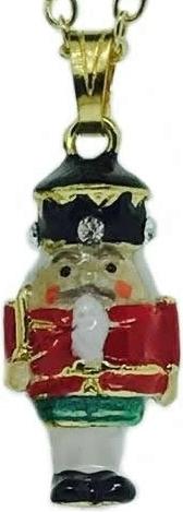 Kubla Crafts Bejeweled Enamel KUB 4085N Nutcracker Necklace