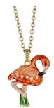 Kubla Crafts Bejeweled Enamel KUB 4166N Flamingo Necklace