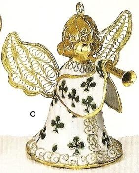 Kubla 4279 Shamrock Set of 3 Angel Bell