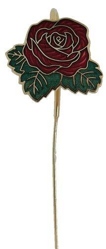 Kubla Crafts Bejeweled Enamel KUB 4301R Enamel Bookmark Red Rose
