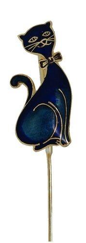 Kubla Crafts Bejeweled Enamel KUB 4302 Black Cat Bookmark