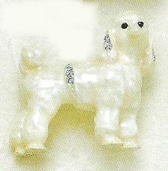 Kubla Crafts Bejeweled Enamel KUB 4513 Poodle Dog Brooch