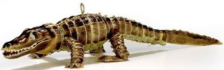 Kubla Crafts Cloisonne KUB 4833B Cloisonne Alligator Ornament