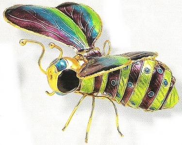 Kubla 4881PG Bee Set of 3 Bee Ornaments