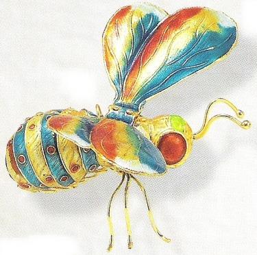 Kubla 4881TG Bee Set of 3 Bee Ornaments