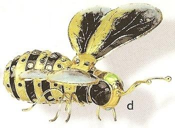 Kubla 4881YB Bee Set of 3 Bee Ornaments
