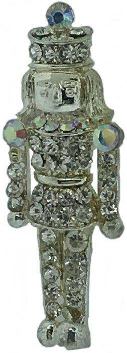Kubla Crafts Bejeweled Enamel KUB 5-0223 Austrian Crystal Nutcracker Brooch
