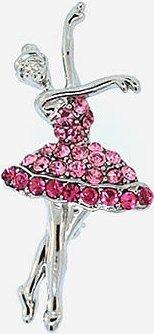 Kubla Crafts Bejeweled Enamel KUB 5-0224 Austrian Crystal Brooch Bellarina