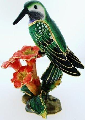Kubla Crafts Bejeweled Enamel KUB 5-3312 Hummingbird Box