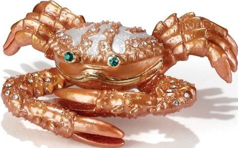 Kubla Crafts Bejeweled Enamel KUB 5-3433 Small Crab Box
