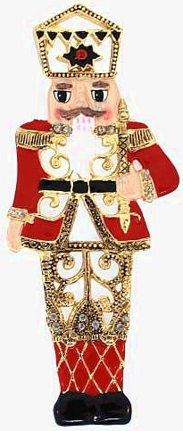 Kubla Crafts Bejeweled Enamel KUB 5-3685 Bejeweled Enamel Ornament Nutcracker