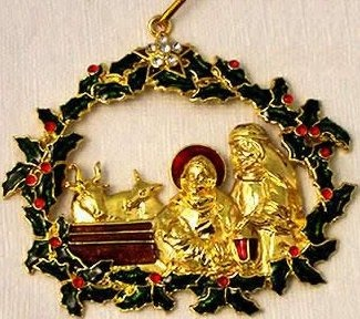 Kubla Crafts Bejeweled Enamel KUB 5-4576 Enamel Gem Nativity Ornament