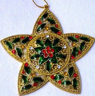 Kubla Crafts Bejeweled Enamel KUB 5-4580 Jeweled Enamel Star Ornament