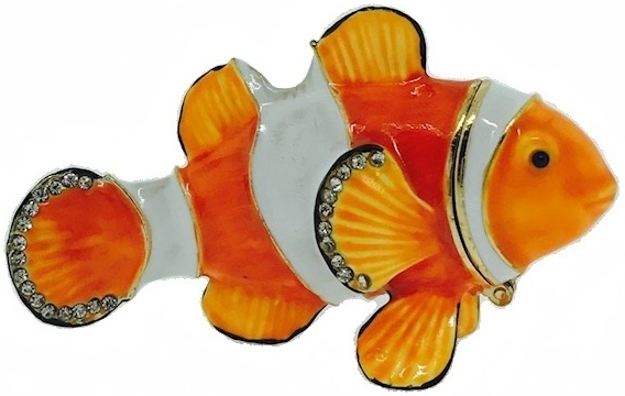 Kubla Crafts Bejeweled Enamel KUB 7-3051 Clownfish Box