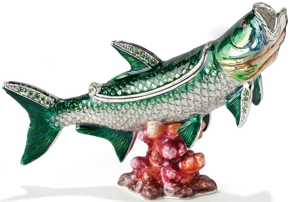 Kubla Crafts Bejeweled Enamel KUB 7-3408 Tarpon Box
