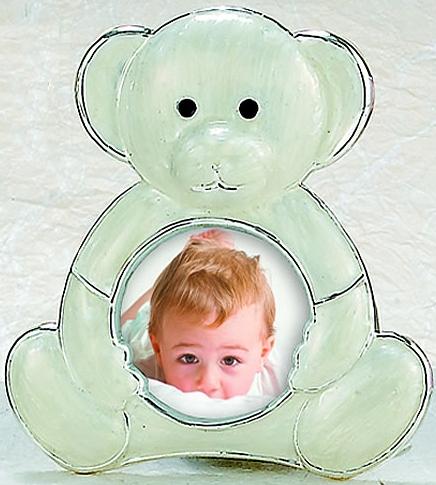 Kubla Crafts Bejeweled Enamel KUB 7-3648 Enamel Teddy Bear Frame