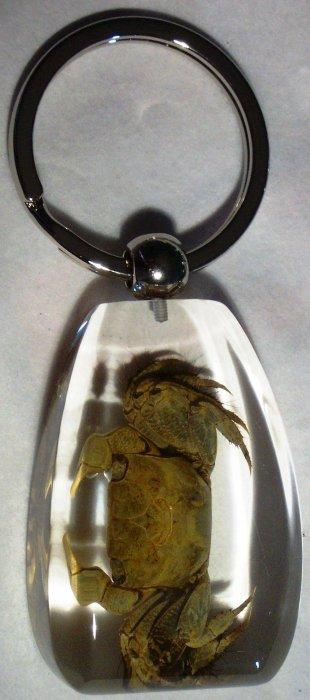 Kubla Crafts Bejeweled Enamel KUB 73-7525A Crab Key Ring