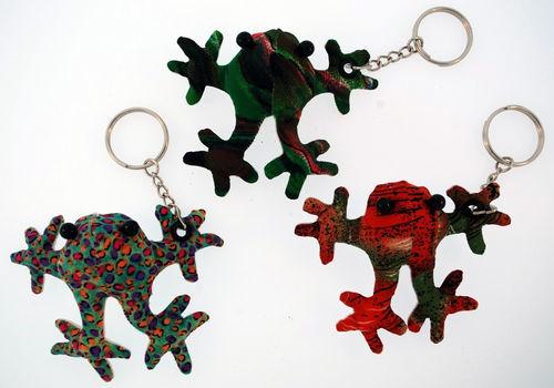 Kubla Crafts Bejeweled Enamel KUB 7704 Frog Key Ring Set of 12