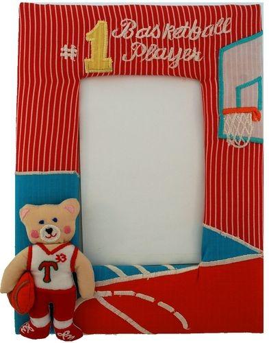 Kubla Crafts Soft Sculpture KUB 8577 Photo Frame Basketball