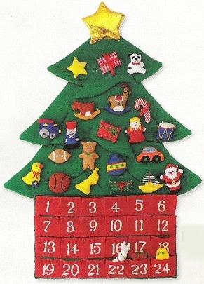 Kubla Crafts Soft Sculpture KUB 8910 Christmas Tree Advent