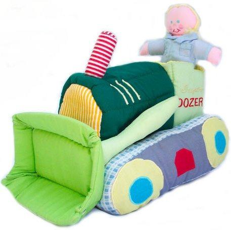 Kubla Crafts Soft Sculpture KUB 9201 Bull Dozer Soft Toy