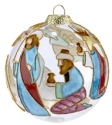 Kubla Crafts Cloisonne KUB 0-1303H Nativity Wisemen Cloisonne Glass Ball