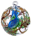 Kubla Crafts Cloisonne KUB 0-1303O Peacock Cloisonne Glass Ball Ornament