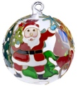 Kubla Crafts Cloisonne KUB 0-1303R Santa Village Cloisonne Glass Ball Ornament