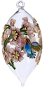 Kubla Crafts Cloisonne KUB 0-1305A Hummer Cloisonne Finial Glass Ornament