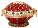 Kubla Crafts Bejeweled Enamel KUB 0-3117 Victorian Red Egg Box