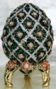Kubla Crafts Bejeweled Enamel KUB 0-3160 Embossed Egg Box