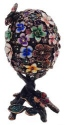 Kubla Crafts Bejeweled Enamel KUB 0-3161B Victorian Egg Large Box
