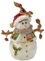 Kubla Crafts Bejeweled Enamel KUB 0-3791 Snowman Box