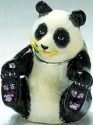 Kubla Crafts Bejeweled Enamel KUB 0-3807 Panda Bear Box