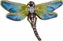 Kubla Crafts Bejeweled Enamel KUB 00-3749BL Blue Dragonfly Box