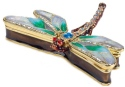Kubla Crafts Bejeweled Enamel KUB 00-3749GR Green Dragonfly Box