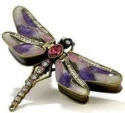 Kubla Crafts Bejeweled Enamel KUB 00-3749PU Purple Dragonfly Box