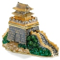 Kubla Crafts Bejeweled Enamel KUB 00-3778 Great Wall of China Box